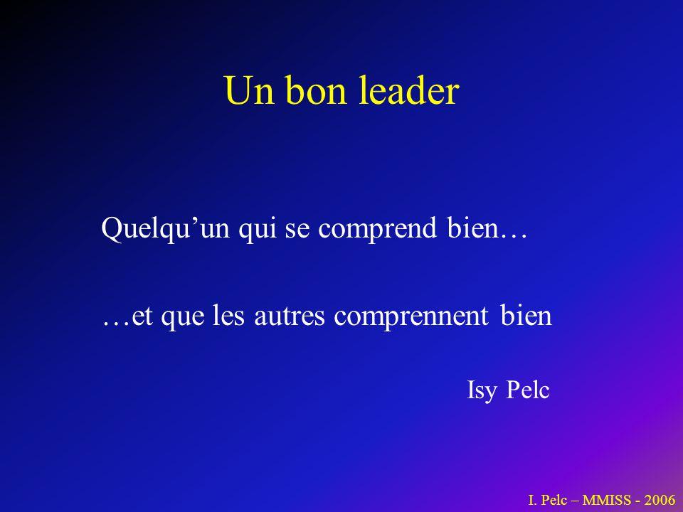 Un bon leader Quelqu'un qui se comprend bien…
