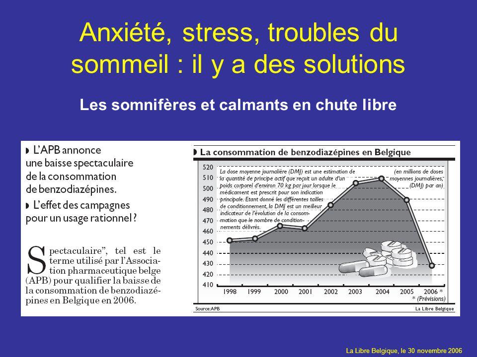 Anxiété, stress, troubles du sommeil : il y a des solutions