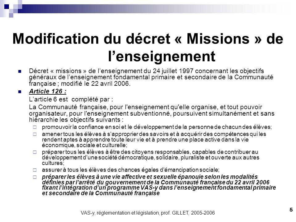 Modification du décret « Missions » de l'enseignement