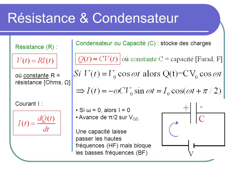Résistance & Condensateur
