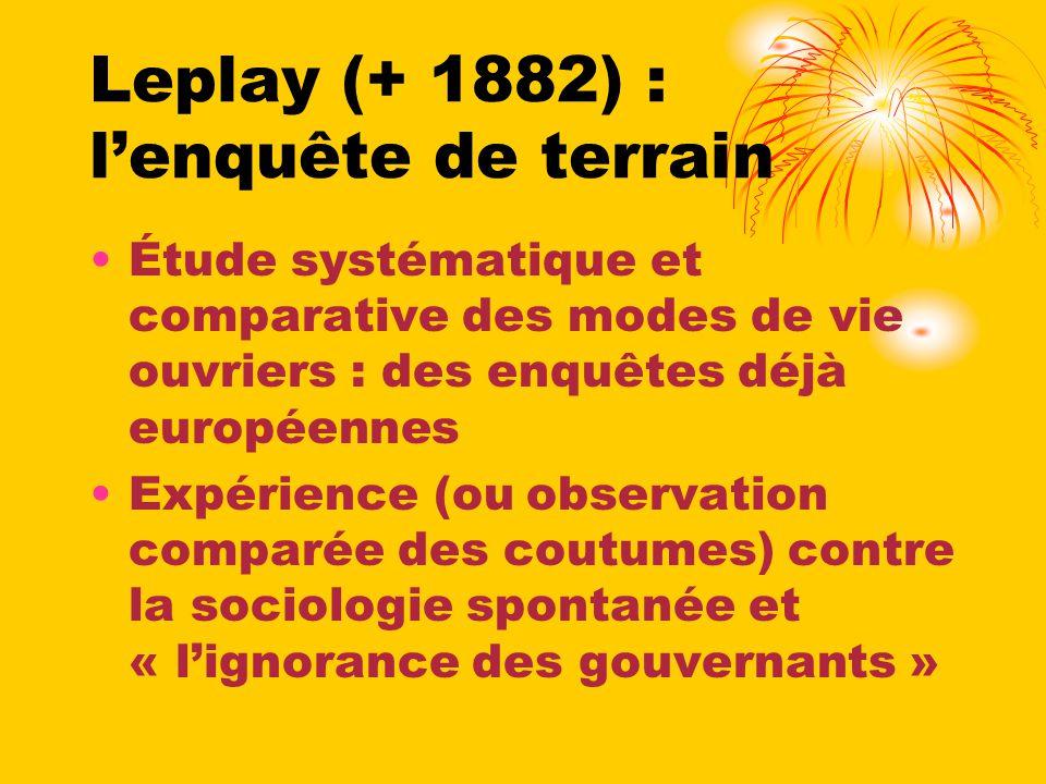 Leplay (+ 1882) : l'enquête de terrain