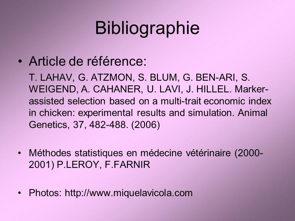Bibliographie Article de référence: