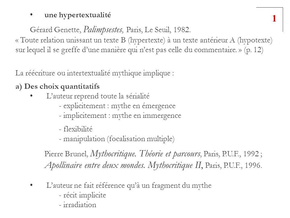 Apollinaire entre deux mondes. Mythocritique II, Paris, P.U.F., 1996.