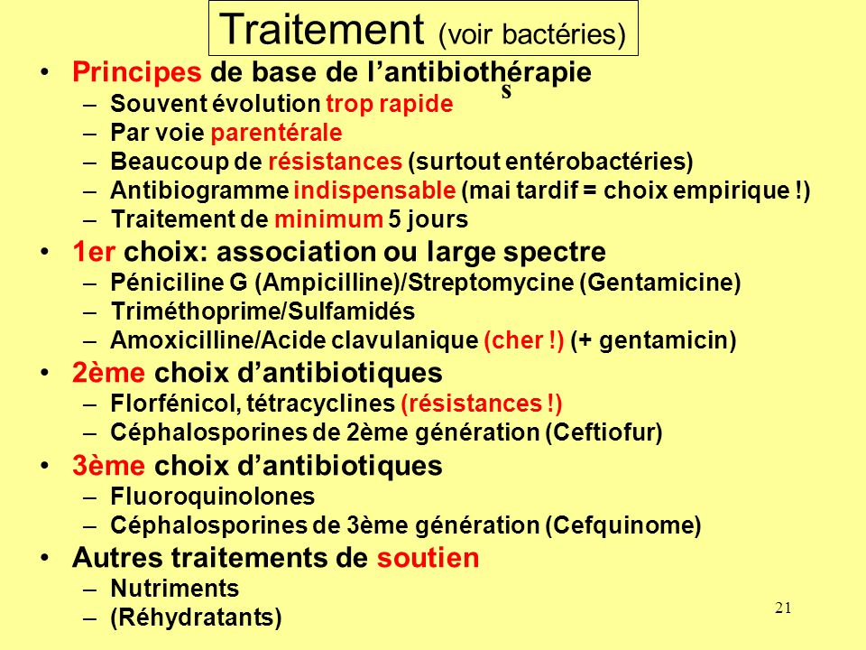 Traitement (voir bactéries)