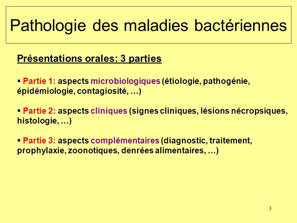 Pathologie des maladies bactériennes
