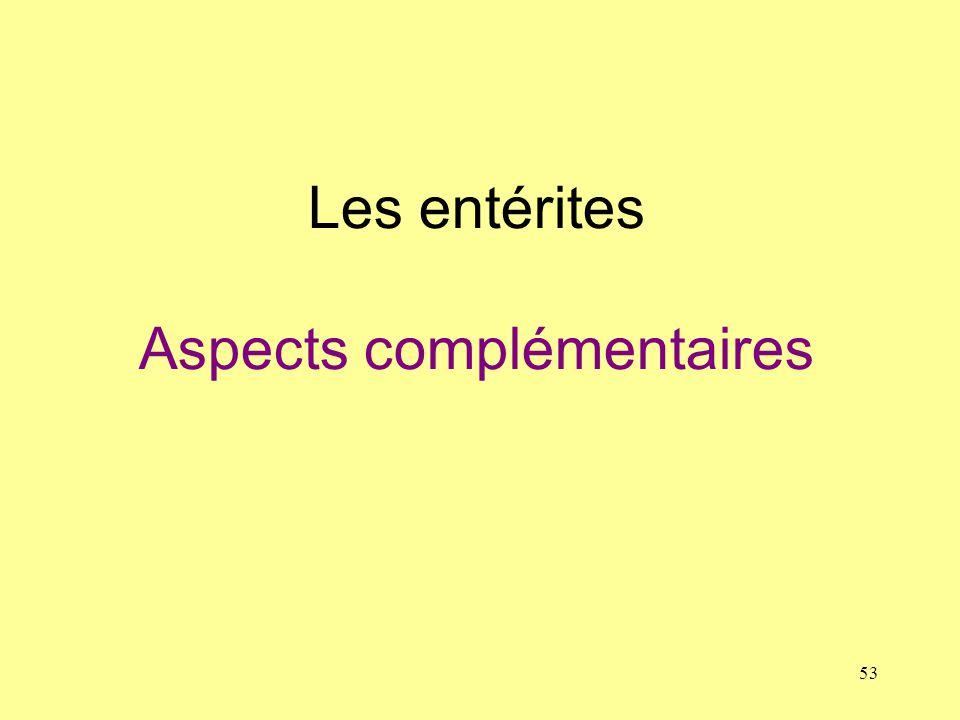 Les entérites Aspects complémentaires