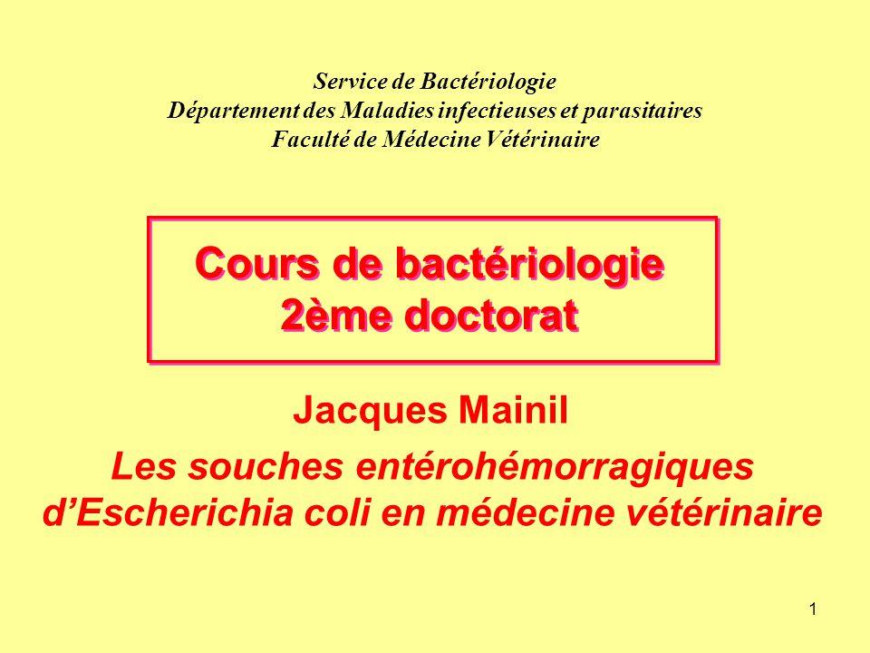Cours de bactériologie