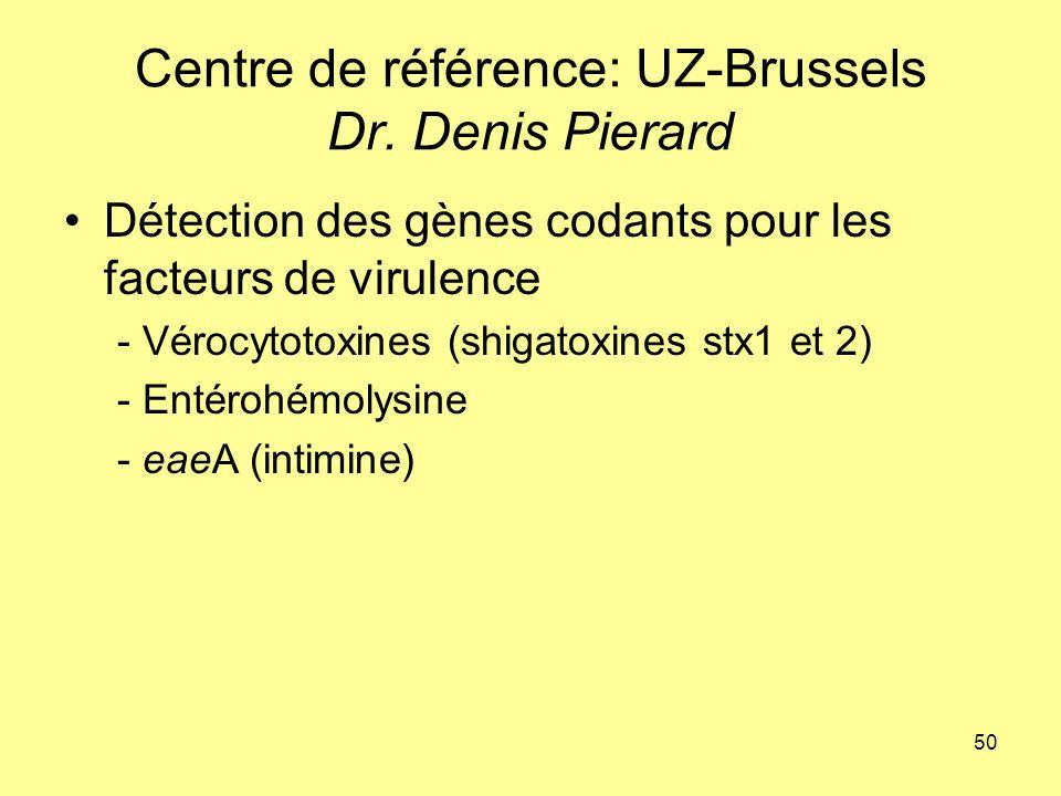 Centre de référence: UZ-Brussels Dr. Denis Pierard
