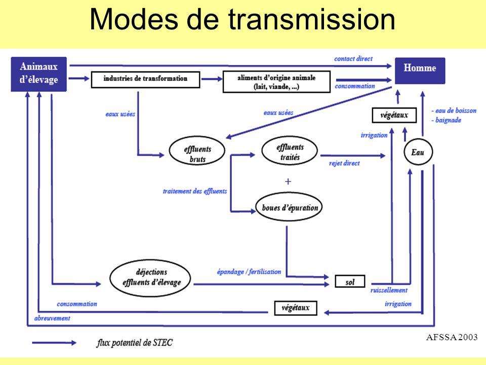 Modes de transmission AFSSA 2003