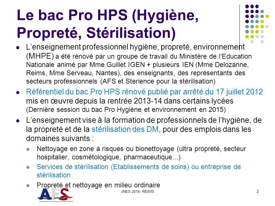 Le bac Pro HPS (Hygiène, Propreté, Stérilisation)