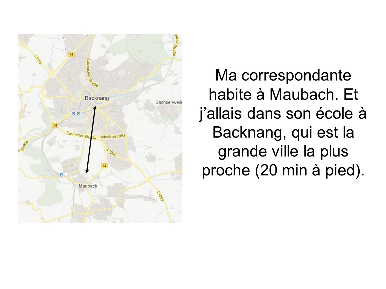 Ma correspondante habite à Maubach
