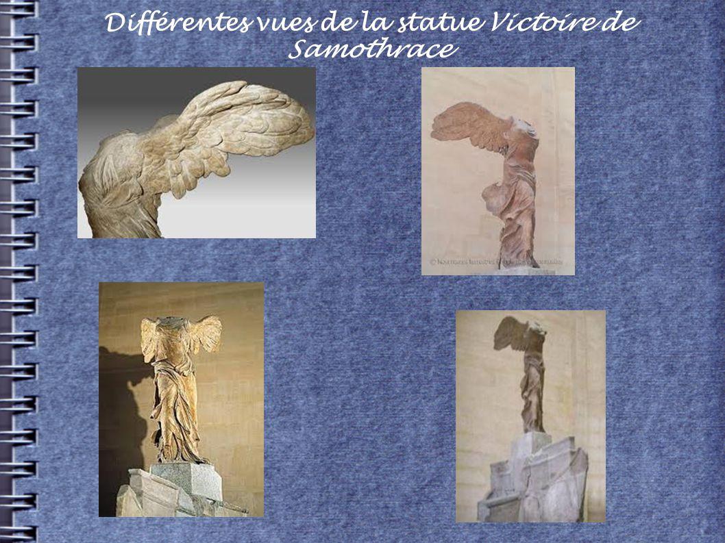 Différentes vues de la statue Victoire de Samothrace