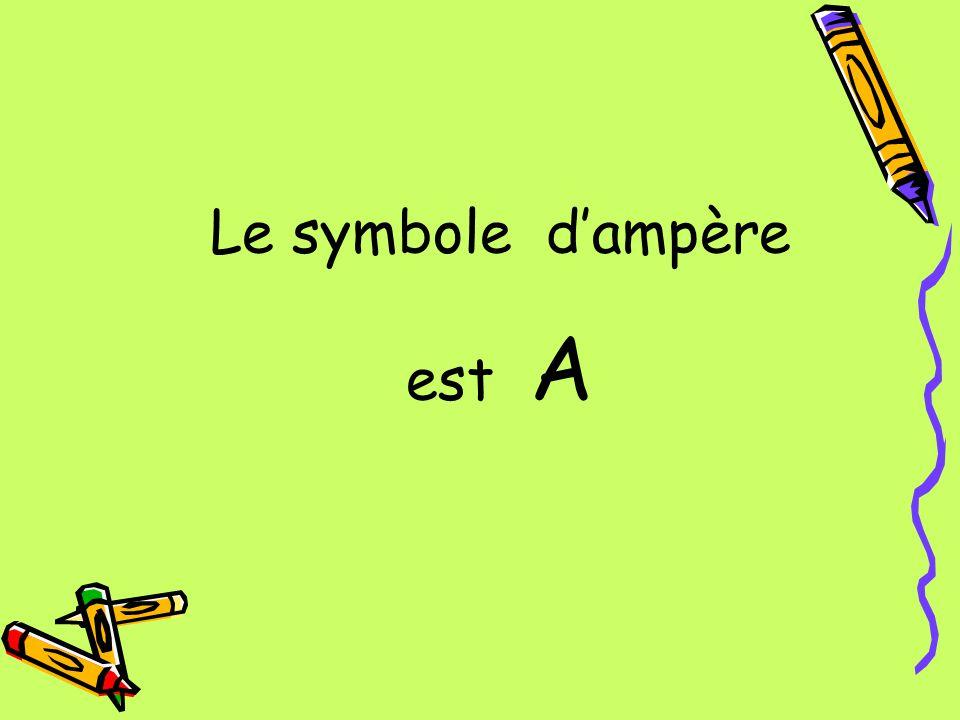 Le symbole d'ampère est A