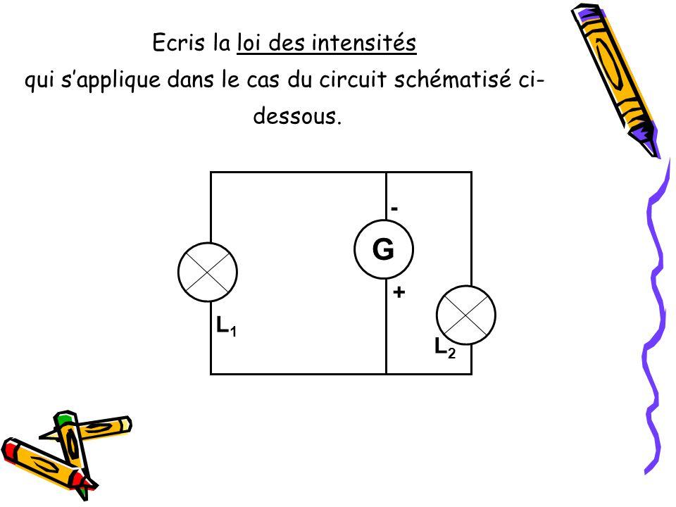 G Ecris la loi des intensités