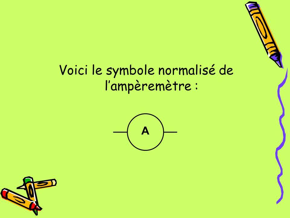 Voici le symbole normalisé de l'ampèremètre :