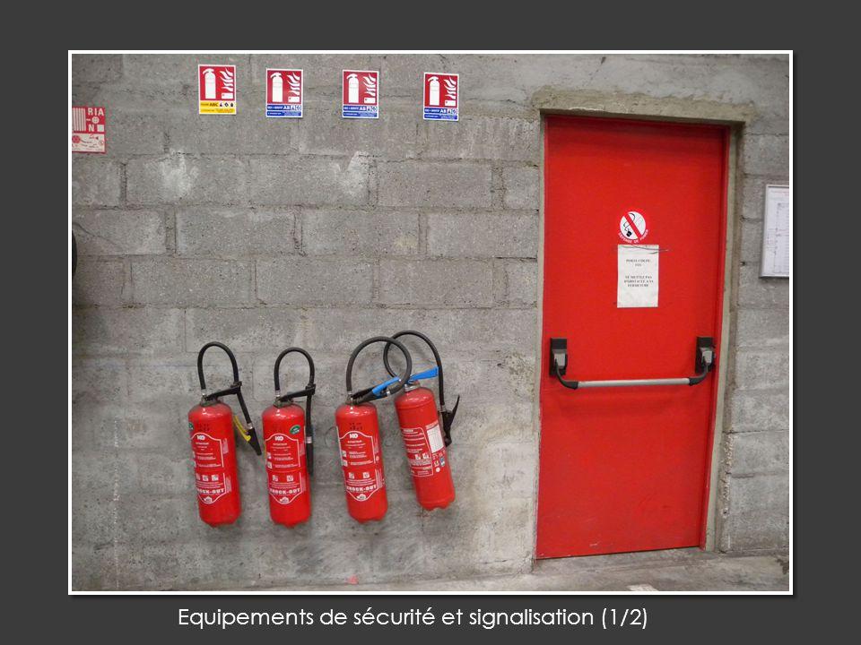 Equipements de sécurité et signalisation (1/2)