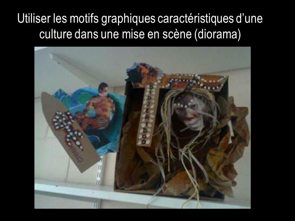 Utiliser les motifs graphiques caractéristiques d'une culture dans une mise en scène (diorama)