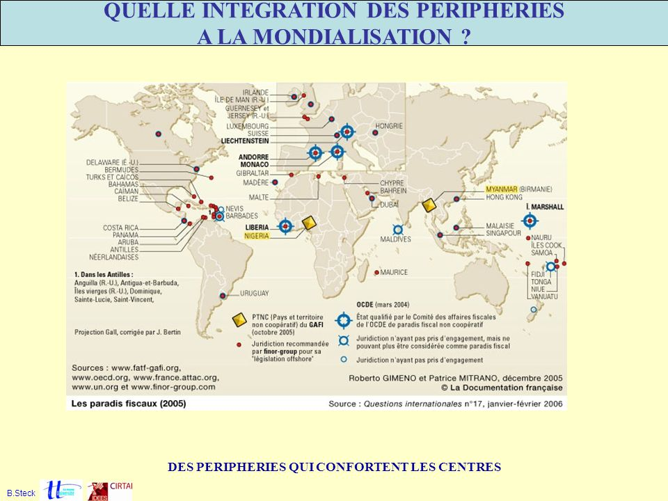 QUELLE INTEGRATION DES PERIPHERIES A LA MONDIALISATION