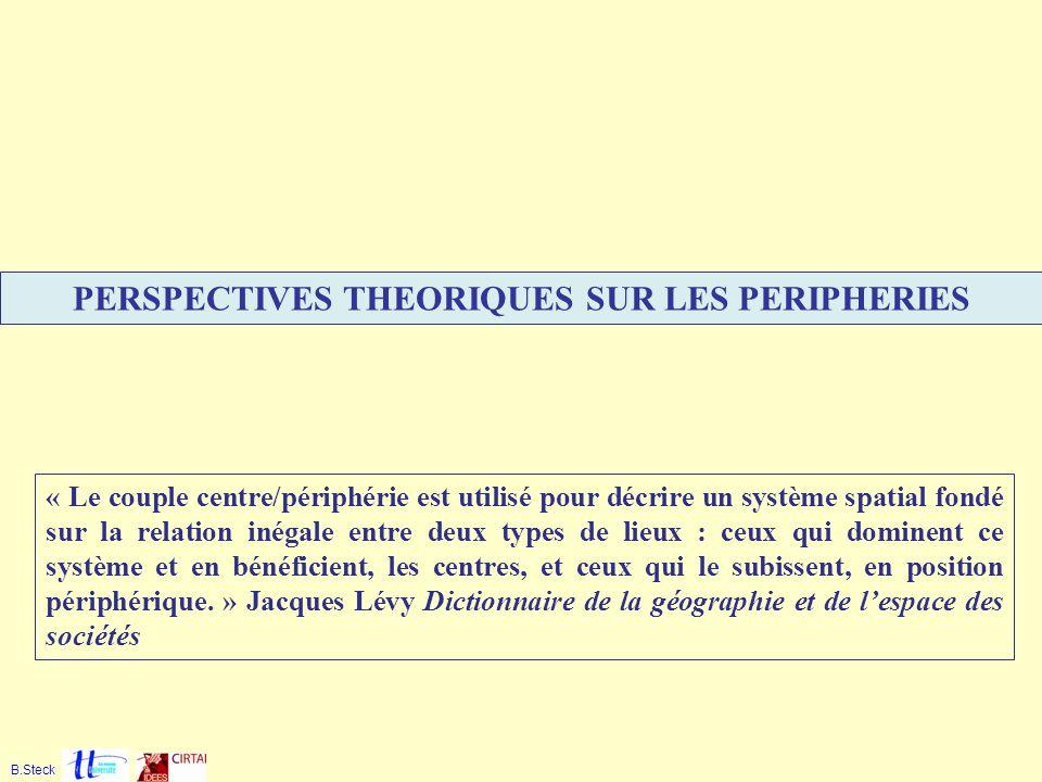 PERSPECTIVES THEORIQUES SUR LES PERIPHERIES