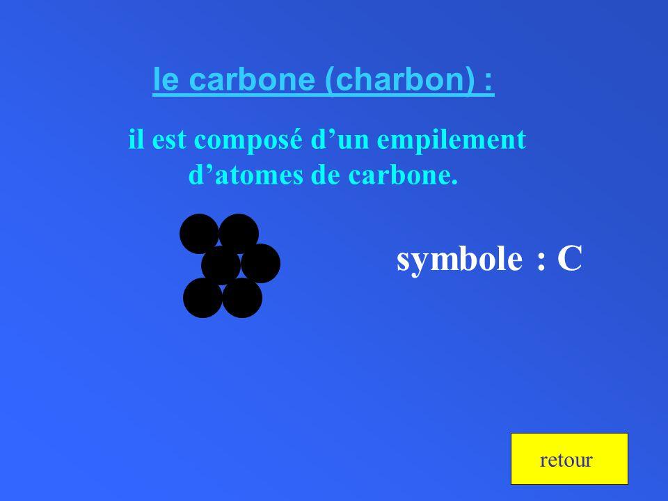 il est composé d'un empilement d'atomes de carbone.