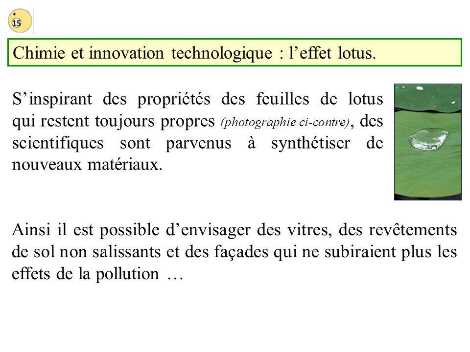 Chimie et innovation technologique : l'effet lotus.