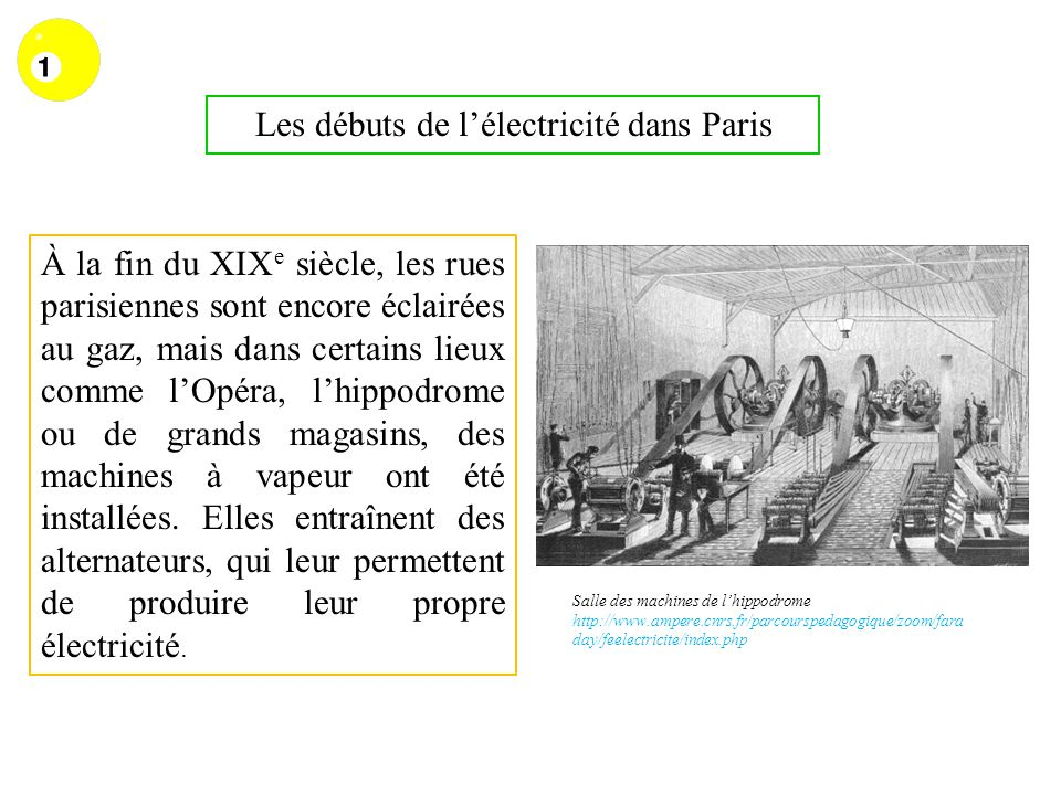 Les débuts de l'électricité dans Paris