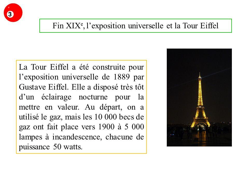 Fin XIXe, l'exposition universelle et la Tour Eiffel