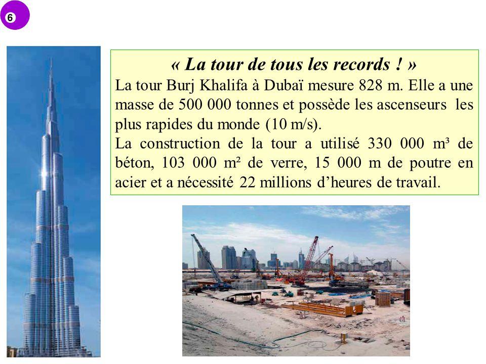 « La tour de tous les records ! »