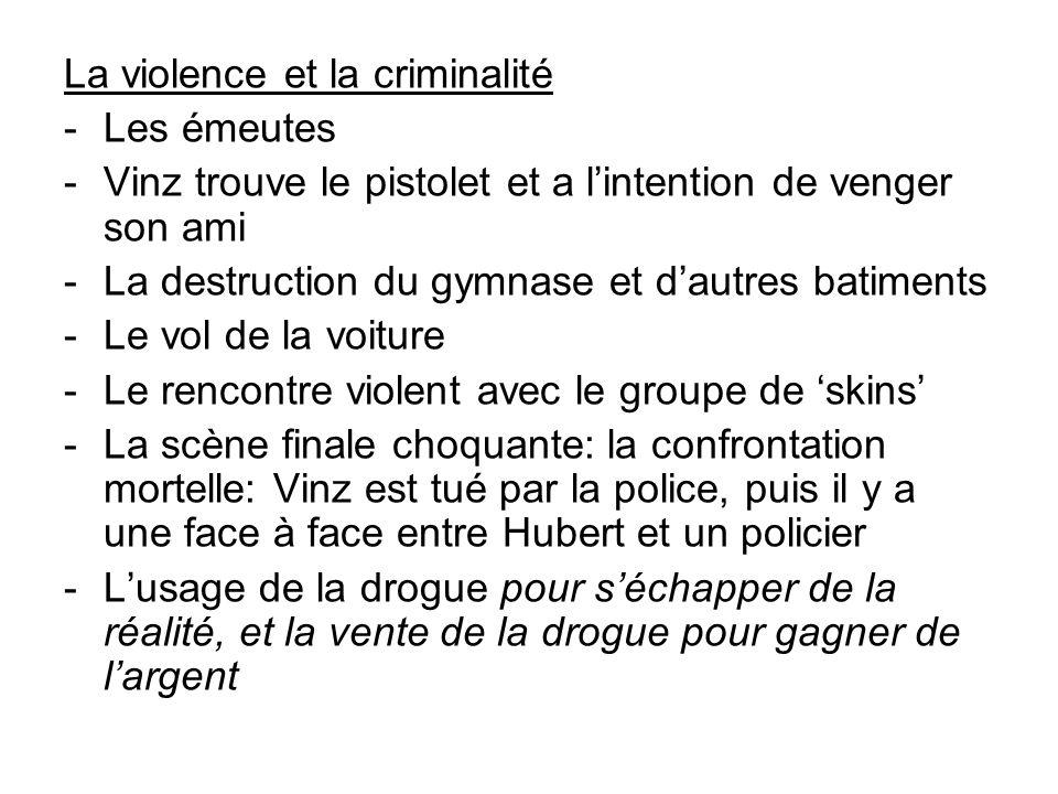 La violence et la criminalité