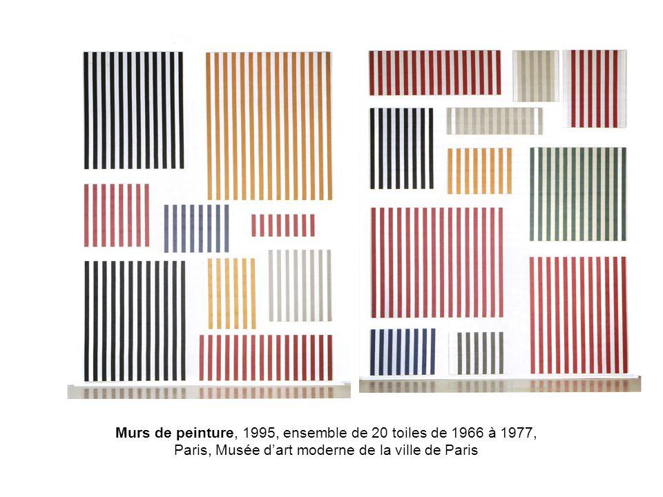 Murs de peinture, 1995, ensemble de 20 toiles de 1966 à 1977, Paris, Musée d'art moderne de la ville de Paris