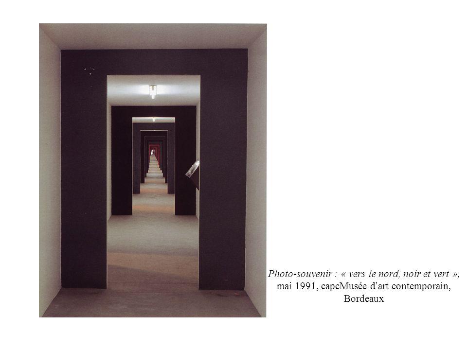 Photo-souvenir : « vers le nord, noir et vert », mai 1991, capcMusée d'art contemporain, Bordeaux