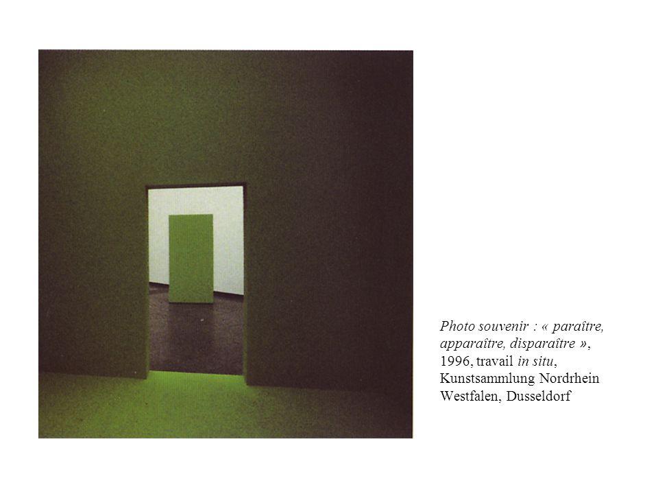 Photo souvenir : « paraître, apparaître, disparaître », 1996, travail in situ, Kunstsammlung Nordrhein Westfalen, Dusseldorf