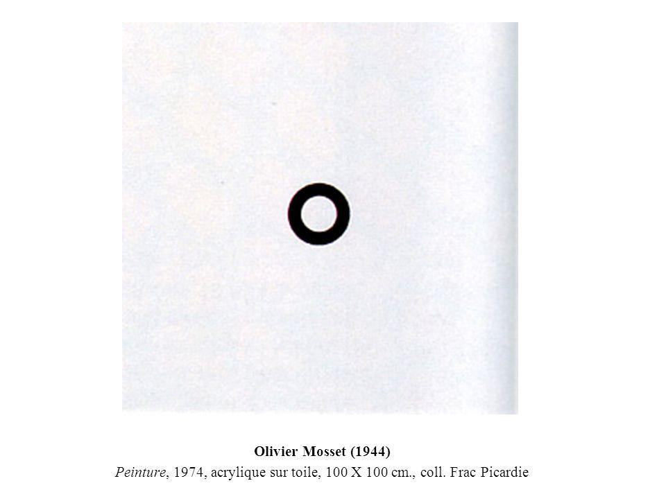 Olivier Mosset (1944) Peinture, 1974, acrylique sur toile, 100 X 100 cm., coll. Frac Picardie