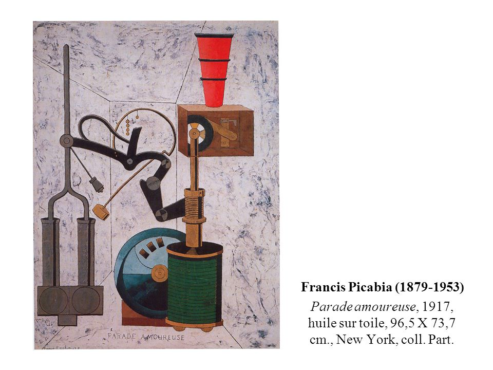 Francis Picabia (1879-1953) Parade amoureuse, 1917, huile sur toile, 96,5 X 73,7 cm., New York, coll.