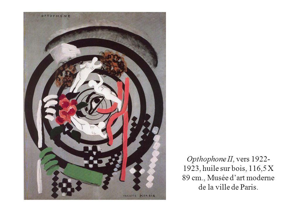 Opthophone II, vers 1922-1923, huile sur bois, 116,5 X 89 cm
