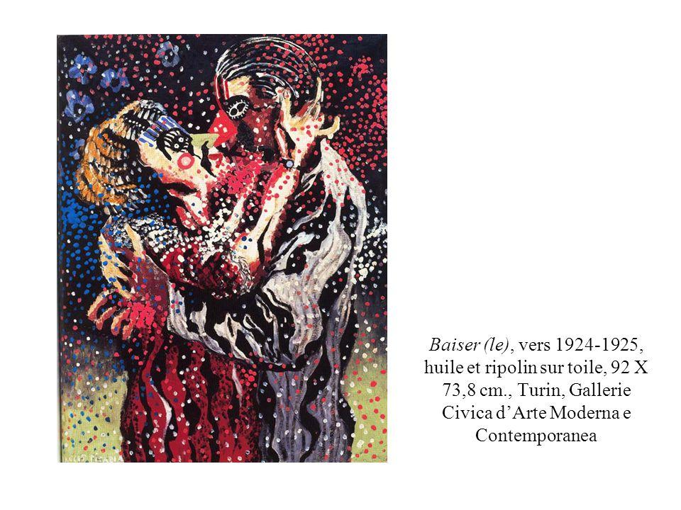 Baiser (le), vers 1924-1925, huile et ripolin sur toile, 92 X 73,8 cm