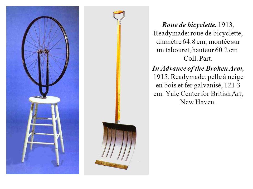 Roue de bicyclette. 1913, Readymade: roue de bicyclette, diamètre 64