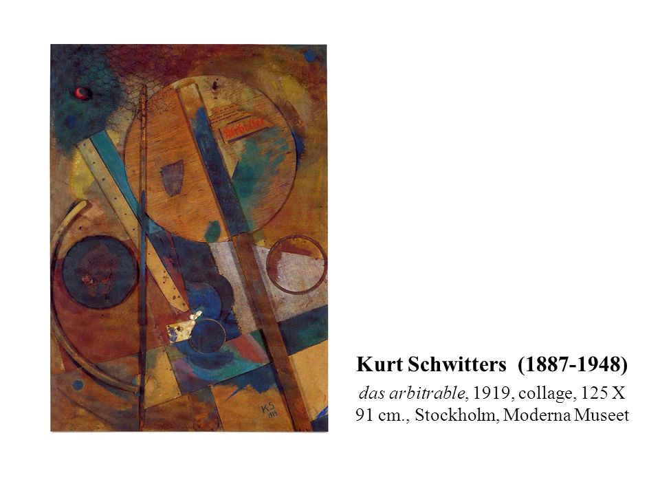 das arbitrable, 1919, collage, 125 X 91 cm., Stockholm, Moderna Museet