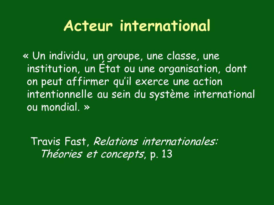 Acteur international