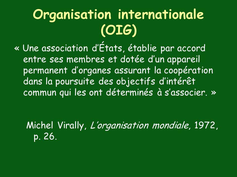 Organisation internationale (OIG)