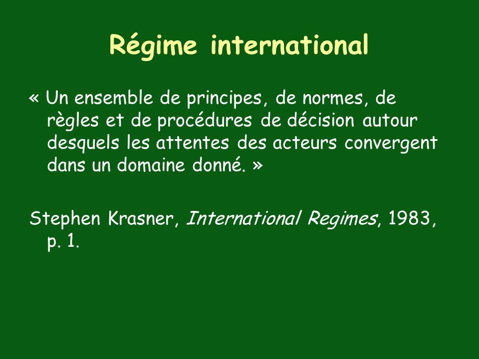 Régime international
