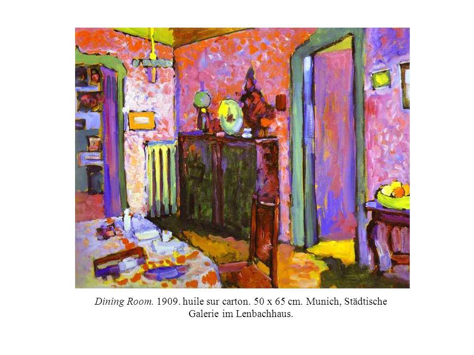 Dining Room. 1909. huile sur carton. 50 x 65 cm
