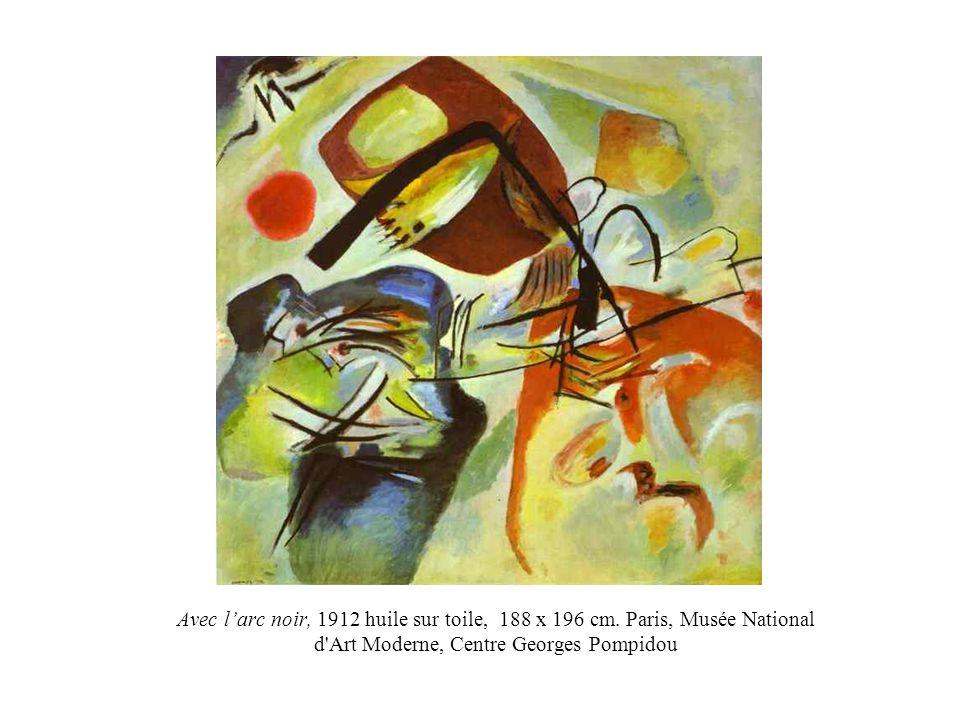 Avec l'arc noir, 1912 huile sur toile, 188 x 196 cm