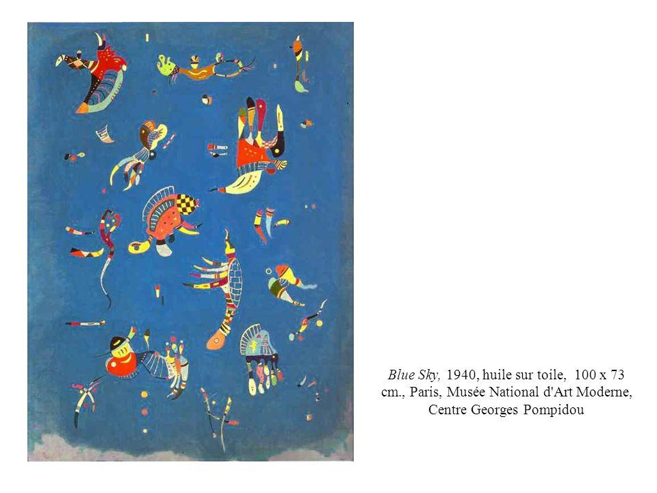Blue Sky, 1940, huile sur toile, 100 x 73 cm