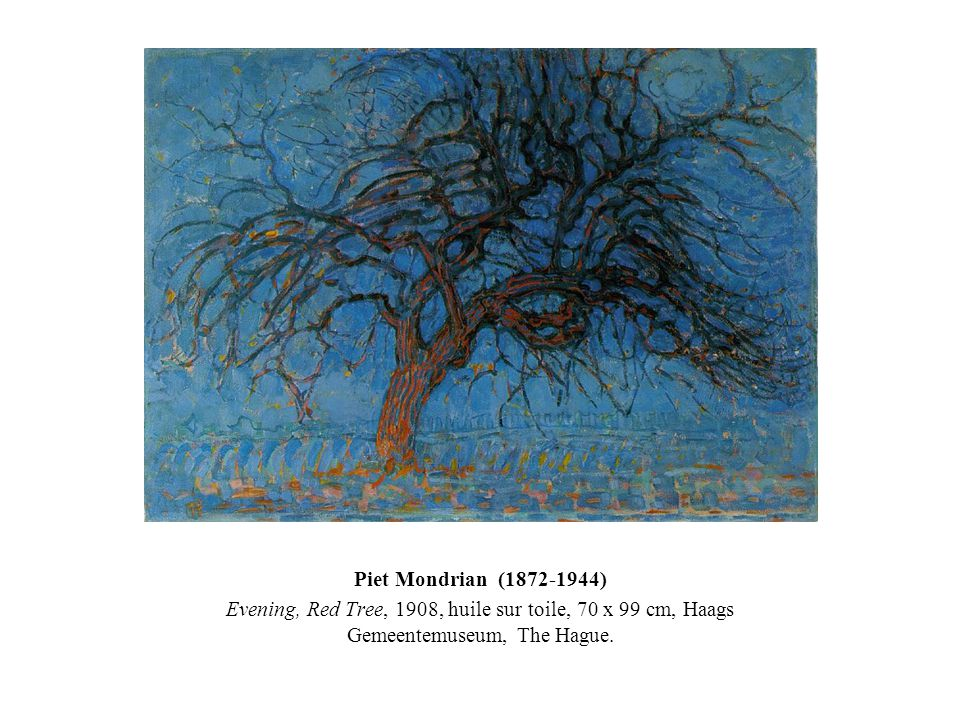 Piet Mondrian (1872-1944) Evening, Red Tree, 1908, huile sur toile, 70 x 99 cm, Haags Gemeentemuseum, The Hague.
