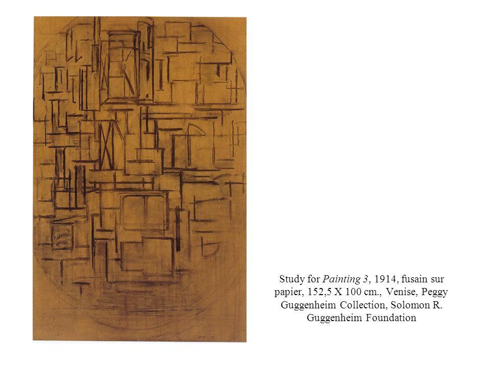 Study for Painting 3, 1914, fusain sur papier, 152,5 X 100 cm