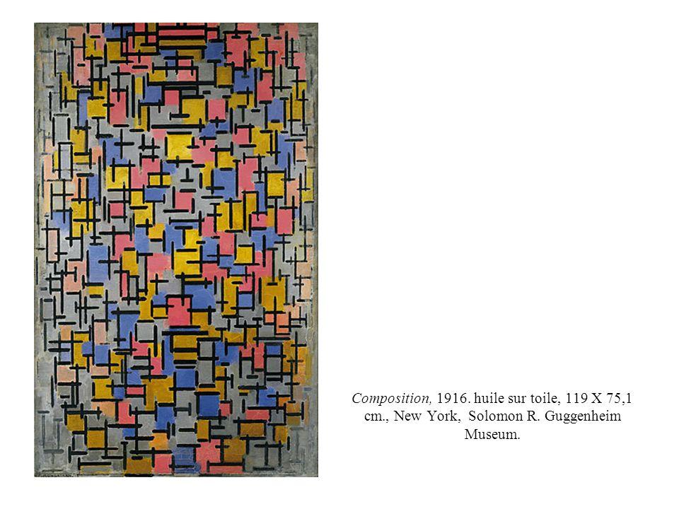 Composition, 1916. huile sur toile, 119 X 75,1 cm