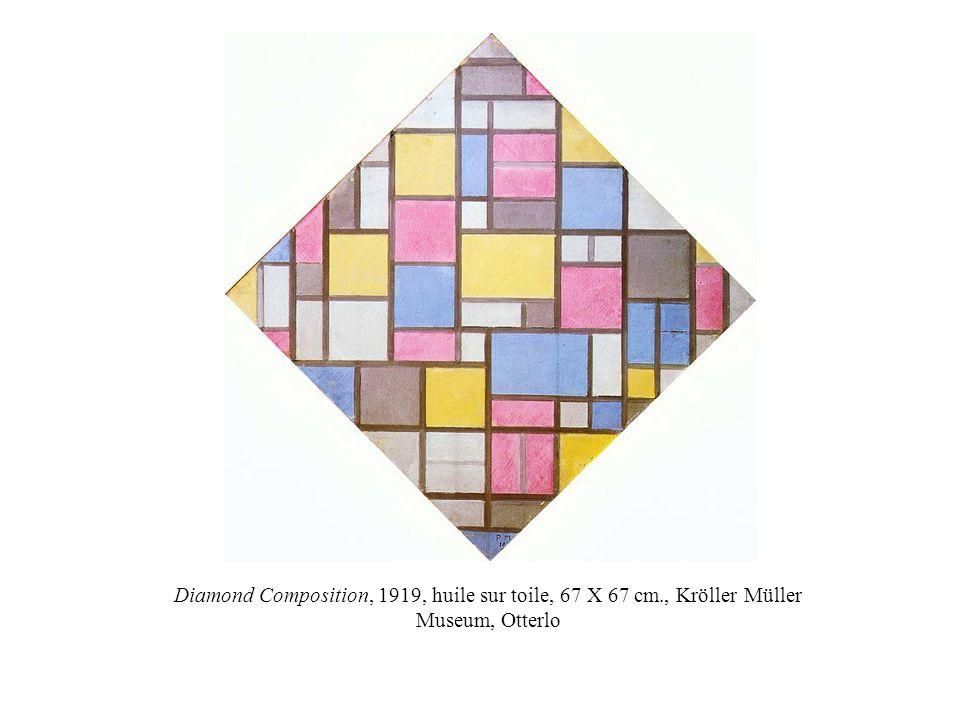 Diamond Composition, 1919, huile sur toile, 67 X 67 cm