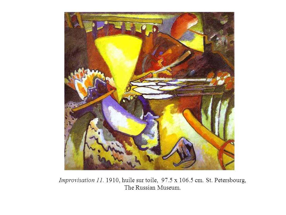 Improvisation 11. 1910, huile sur toile, 97. 5 x 106. 5 cm. St