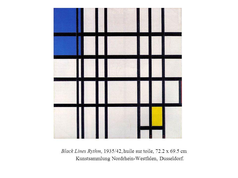 Black Lines Rythm, 1935/42, huile sur toile, 72.2 x 69.5 cm